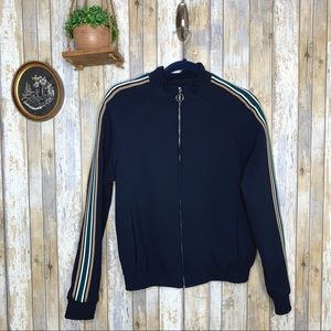 TopMan Navy Side Stripe Track Top